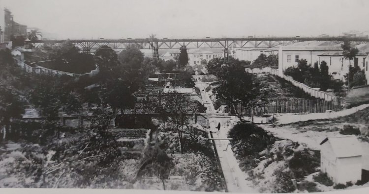 1903 - Vista do Viaduto do Chá em 1903 (São Paulo)