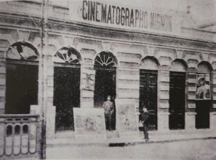 1908 - Cinematographo Mignon, um dos primeiros cinemas de São Paulo